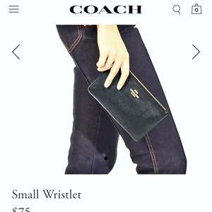 COACH small BLACK electronics satchel